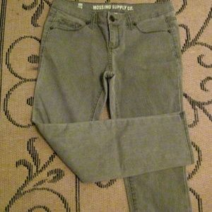 Mossimo grey cropped jeans